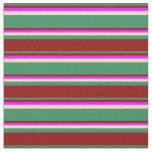 [ Thumbnail: Sea Green, Dark Red, Fuchsia, and Tan Colored Fabric ]