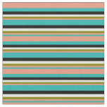 [ Thumbnail: Sea Green, Dark Salmon, Green, Light Yellow, Black Fabric ]