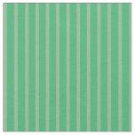 [ Thumbnail: Sea Green & Dark Sea Green Colored Pattern Fabric ]