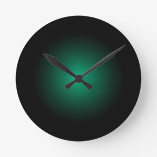 Sea Green Drama Modern Urban Art Products Round Clock
