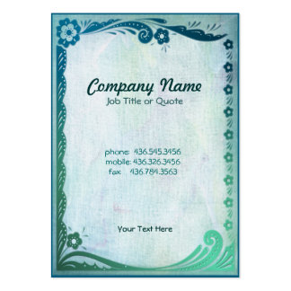 Sea Green Fantasy Large Business Cards (Pack Of 100)