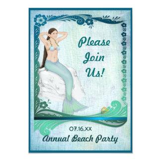 Sea Green Fantasy Custom Invite