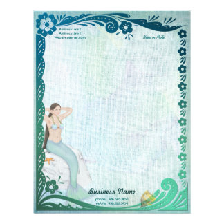 Sea Green Fantasy Letterhead
