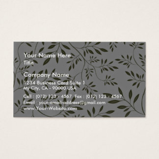 Sea Green floral wedding gift Business Card