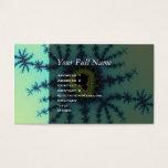 Sea Green Fractal Business Card
