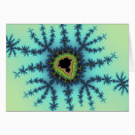 Sea Green Fractal Card