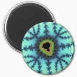 Sea Green Fractal Magnet