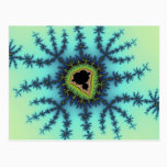 Sea Green Fractal Postcard