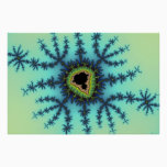 Sea Green Fractal Poster