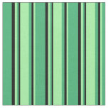 [ Thumbnail: Sea Green, Green, and Black Colored Pattern Fabric ]