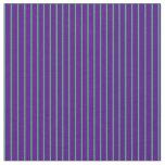 [ Thumbnail: Sea Green & Indigo Colored Lines/Stripes Pattern Fabric ]