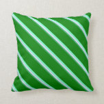 [ Thumbnail: Sea Green, Lavender, Aquamarine, and Green Lines Throw Pillow ]