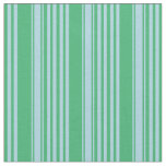 [ Thumbnail: Sea Green & Light Blue Colored Lines Pattern Fabric ]