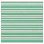 [ Thumbnail: Sea Green & Light Gray Lines/Stripes Pattern Fabric ]