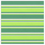 [ Thumbnail: Sea Green, Light Green, and White Lines Fabric ]