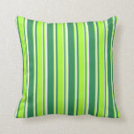 [ Thumbnail: Sea Green, Light Green, and White Lines Pillow ]