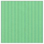 [ Thumbnail: Sea Green & Light Green Striped Pattern Fabric ]