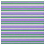 [ Thumbnail: Sea Green, Light Grey, and Purple Colored Pattern Fabric ]