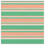 [ Thumbnail: Sea Green, Light Salmon, and Bisque Pattern Fabric ]