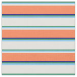 [ Thumbnail: Sea Green, Light Sky Blue, Light Cyan, Coral, Blue Fabric ]