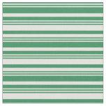 [ Thumbnail: Sea Green & Light Yellow Lines/Stripes Pattern Fabric ]