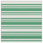 [ Thumbnail: Sea Green & Light Yellow Stripes/Lines Pattern Fabric ]