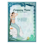 Sea Green Mermaid Fantasy Large Business Cards (Pack Of 100)