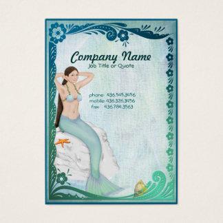 Sea Green Mermaid Fantasy Business Card
