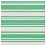 [ Thumbnail: Sea Green & Mint Cream Lines/Stripes Pattern Fabric ]