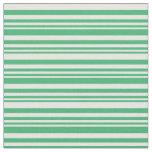 [ Thumbnail: Sea Green & Mint Cream Pattern Fabric ]