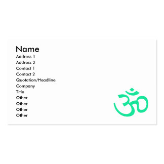 Sea Green Om or Aum ॐ.png Business Card Templates