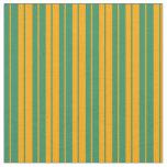 [ Thumbnail: Sea Green & Orange Colored Pattern of Stripes Fabric ]