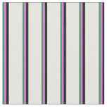 [ Thumbnail: Sea Green, Orchid, Black, and Mint Cream Colored Fabric ]