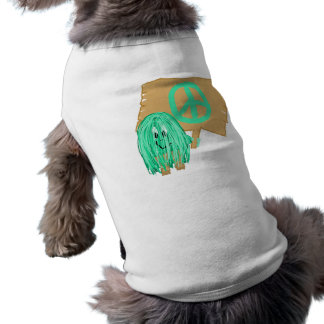 Sea Green Peace Dog T Shirt