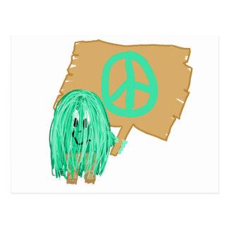 Sea Green Peace Postcard
