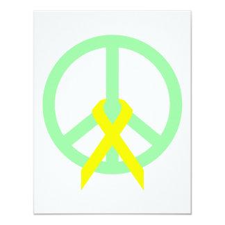 Sea Green Peace & Ribbon Card