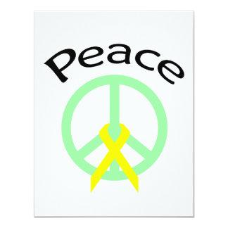 Sea Green Peace Word & Ribbon Card