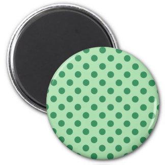 Sea Green Polka Dots 2 Inch Round Magnet