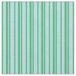 [ Thumbnail: Sea Green & Powder Blue Colored Stripes Pattern Fabric ]