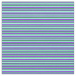 [ Thumbnail: Sea Green, Purple & Aquamarine Lines Fabric ]