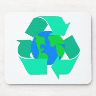 sea green recycle mouse pad