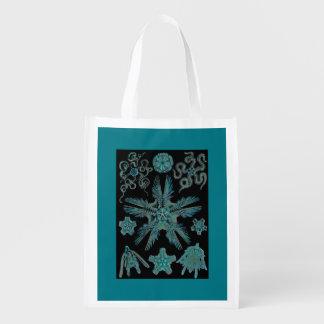 Sea Green Siphonophorae Reusable Grocery Bag
