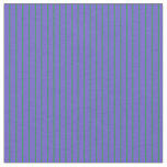 [ Thumbnail: Sea Green & Slate Blue Pattern of Stripes Fabric ]