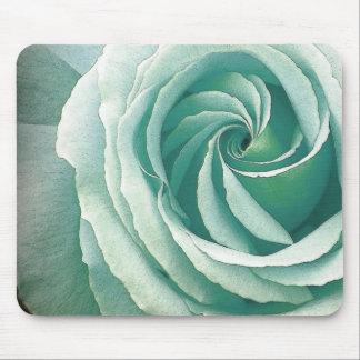 SEA GREEN Spiral of Rose Mousepad