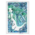 Sea Green Stationery Note Card