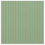 [ Thumbnail: Sea Green & Tan Colored Striped/Lined Pattern Fabric ]