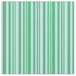 [ Thumbnail: Sea Green & Turquoise Colored Lined Pattern Fabric ]