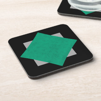 Sea Green Velvet Personalized Home Casino Drink Coasters