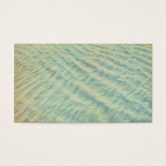 sea green water custom business card template