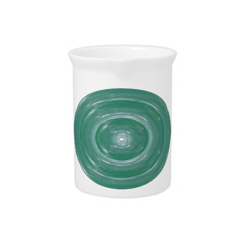 Sea Green Waves : Ovals n Rounds Drink Pitchers
